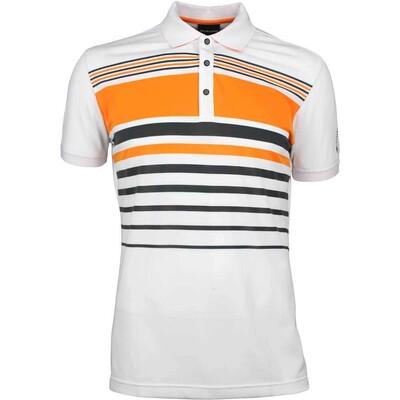Galvin Green Golf Shirt MAYER White Orange SS18