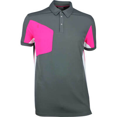Galvin Green Golf Shirt MANNIX Iron Grey Cerise SS18