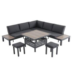 LG Outdoor Milan Aluminium Modular Lounge Dining Set