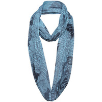 A Postcard From Brighton Womens Luxe Chiffon Snood - Sky
