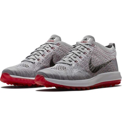 Nike Golf Shoes Flyknit Racer G Wolf Grey 2018