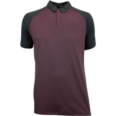 Nike Golf Shirt NK Dry Raglan Burgundy Crush AW18