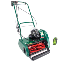 "Image of Allett Liberty 35 14"" Cordless Self Propelled Mower with 40v 4ah Battery & Charger"
