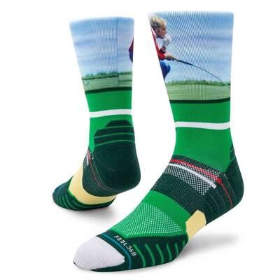 Stance Golf Socks Jack Nicklaus Crew Green 2019