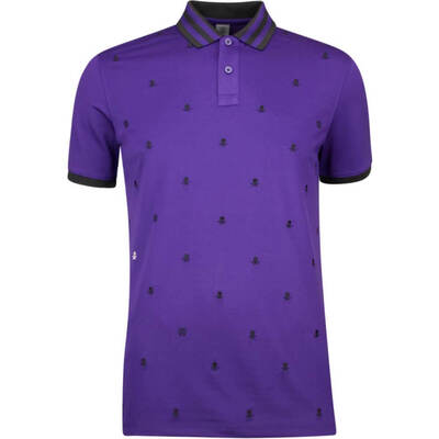 GFORE Golf Shirt Skull Ts Embroidered Polo Wisteria AW18