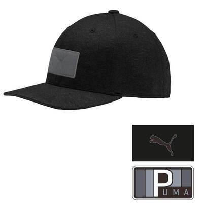 PUMA Golf Cap Patch 110 Snapback Black SS19