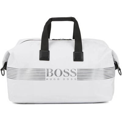 BOSS Travel Bag Pixel Holdall Natural White SP19
