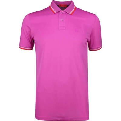 GFORE Golf Shirt Tipped Pique Polo Rose Violet SS19