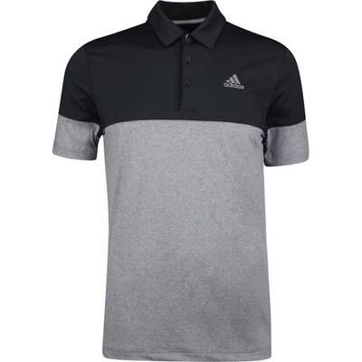 Adidas Golf Shirt Ultimate365 Heather Blocked Black SS19