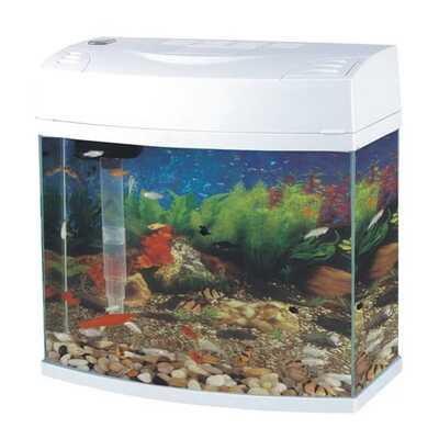Fish 'R' Fun Panoramic Slim Bow Front Fish Aquarium 14L
