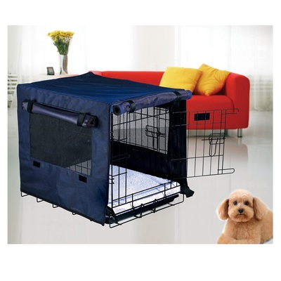 HugglePets Dog Cage Cover - Blue