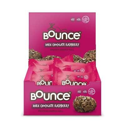 Bounce Dark Chocolate Raspberry Protein Energy Balls - Pack of 12