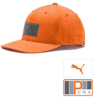 PUMA Golf Cap Patch 110 Snapback Vibrant Orange SS19