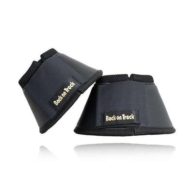 Back on Track® Equine / Horse Classic Overreach/Bell Boots - Black Small