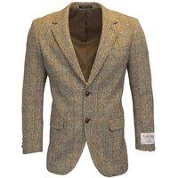 Harris Tweed Mens White Sand Herringbone Checked Blazer / Jacket - 38