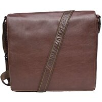 Woodland Leather Tribal High Grade Buffalo Leather Landscape Messenger Bag - Tribal