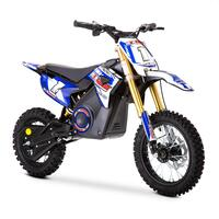 FunBikes MXR 1300w Lithium Electric Motorbike 65cm Blue Kids Dirt Bike