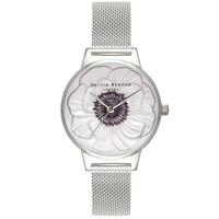 Midi 3D Anemone Mesh Watch - Silver