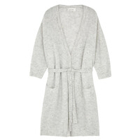 Vikiville Long Sleeve Cardigan - Pearl Grey Melange