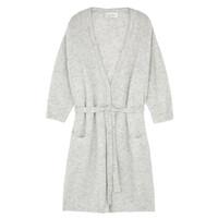 Vikiville Long Sleeve Cardigan - Pearl Grey Melange