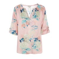 Natali Silk Top - Bloom