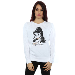 disney princess women's belle sparkle sweatshirt