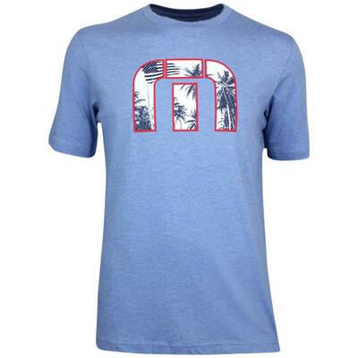 TravisMathew Golf T Shirt Duuude Heather Blue SS19