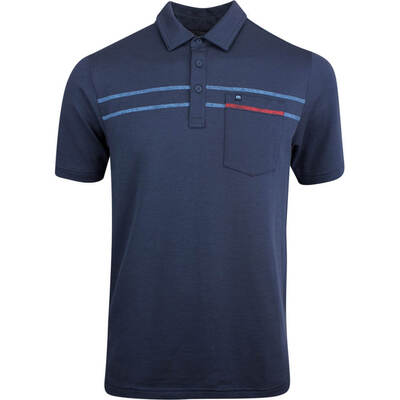 TravisMathew Golf Shirt Yuri Polo Blue Nights SS19