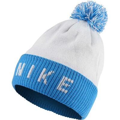 Nike Golf Hat NK Reversible Pom Beanie Photo Blue AW19