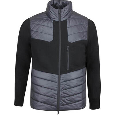 GFORE Golf Jacket Killer Quilted Wool FZ Onyx AW19