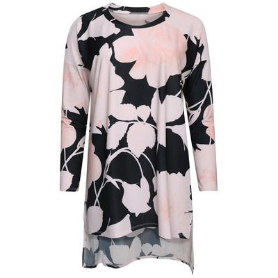 A POSTCARD FROM BRIGHTON BEA SLINKY FRONT CHIFFON BACK TOP - MILK PINK - S/M