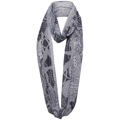 A POSTCARD FROM BRIGHTON LUXE CHIFFON SNOOD - GREY WHITE