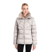 RINO & PELLE TEMMY MOONROCK FAUX FUR COLLAR QUILTED COAT - 8