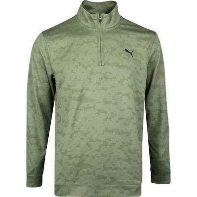 PUMA Golf Pullover Alterknit Digi Camo QZ Deep Lichen Green SS20