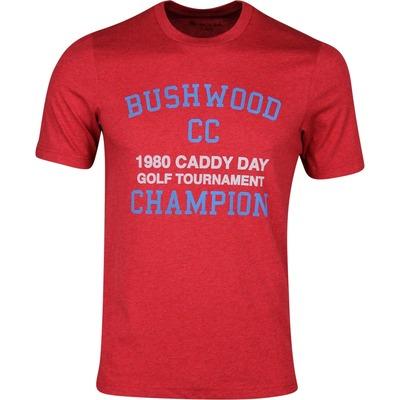 TravisMathew T Shirt Caddy Day Tee Heather Red SS20