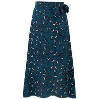 Exclusive Miranda Midi Silk Skirt - Animal Print