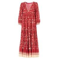 Sibel Printed Maxi Dress - Red