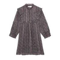 Deep Short Dress - Black
