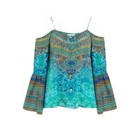 Gypsy Silk Top - Atlantis