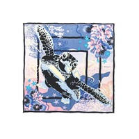 Turtley Sia Silk Scarf - Blue