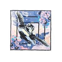 Turtley Sia Silk Scarf - Blue