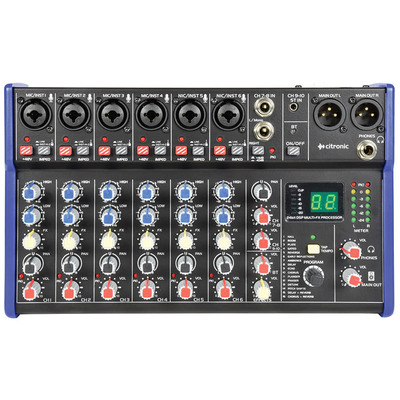Compact 6 Channel Mixer with Bluetooth and DSP Effects