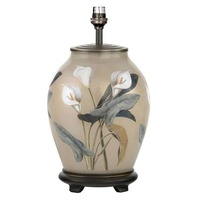 Jenny Worrall &pipe; RHS Arum Lilly Medium Glass Table Lamp