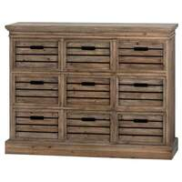 interiors etc &pipe; Brooklyn Distressed Pine Nine Drawer Chest