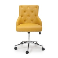 Shankar &pipe; Rocco Leather Match Yellow Office Chair