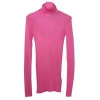 Massachusetts Long Sleeve Cotton Polo Neck Top - Pinky
