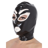 Latex Rubber Deluxe Glamour Hood