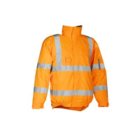 Sioen 404 Hobson High Vis Orange Lined Bomber Jacket