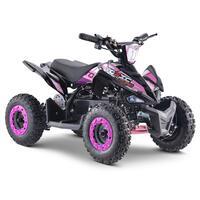 FunBikes Toxic 800w Black/Pink Kids Electric Mini Quad Bike V2