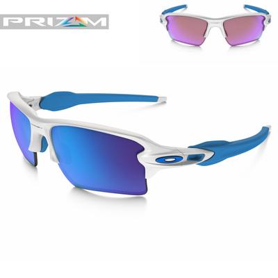 Oakley Ultimate Prizm Golfer Package Flak Jacket 20 XL White Blue
